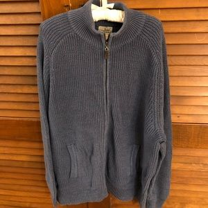 Men's LL Bean Ragg Cotton Blue sweater size XL